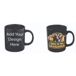 Black Printed Promotional Magic Coffee Mug, for Home