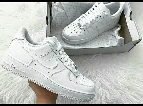 Mejora Monet híbrido  White Women Nike Airforce Shoes, Model Number/Name: 56788, Rs 1500 /box |  ID: 20790222255