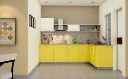 L shape Modular kitchen service