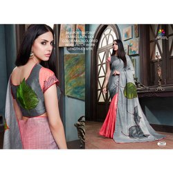 Rachna Linen Silk Patch Work Portrait Catalog Saree For Women 7