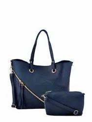 Ladies Blue Faux Leather Bag