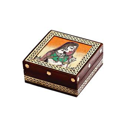 Gemstone Wooden Jewellery Box