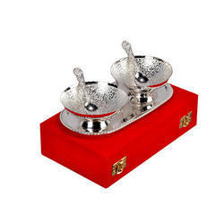 Round Silver Plated Bowl Set