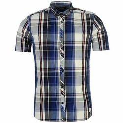 Cotton Men Trendy Check Shirt