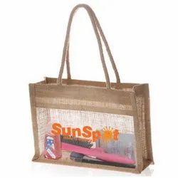 Screen Printing Logo Jute Cosmetic Bag
