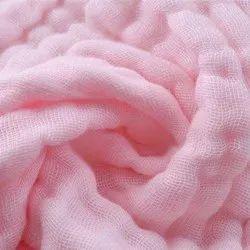 Organic Cotton Crinkle Double Cloth Muslin Fabric