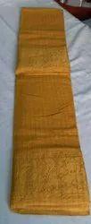 Casual Wear Mustard Yellow OSP BRAND Madurai Sungudi Cotton ZARI CHECKS Sarees, 5.4 MTS