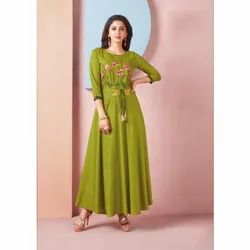 Ladies Rayon Anarkali Long Kurti
