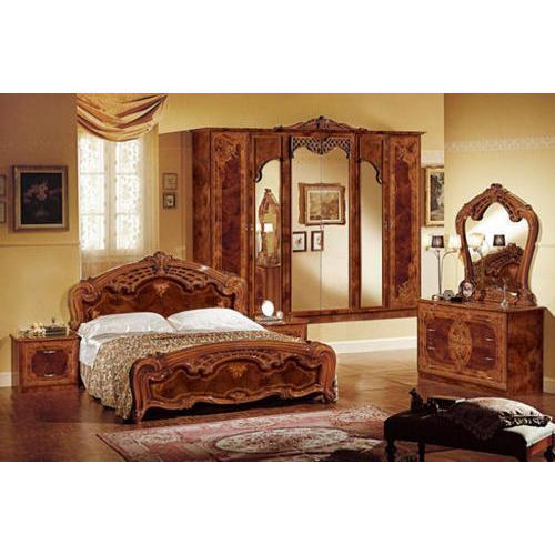 Furntiure: Brown Sagwan Wood Bedroom Furniture Set, Rs 35000 /set, M