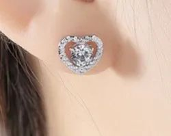 Heart Cut Moissanite Earrings