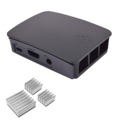 Robocraze Official Raspberry Pi Black & Grey Case Heatsink