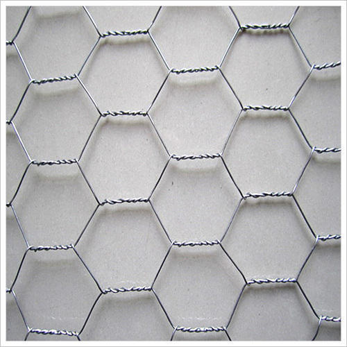 Stainless Steel SS Hexagonal Wire Mesh, For Industrial