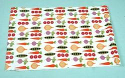 Table Runner with Vegetables Print