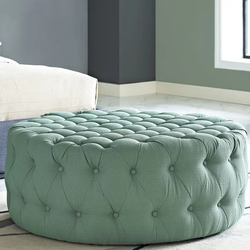 Polyester Round Large Ottoman Pouffe Extra Soft Sitting