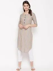 Yarn Dyed Stripes Women Kurta HC756