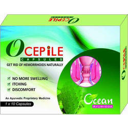 Ayurvedic Ocepile Capsule, Packaging Type: Box