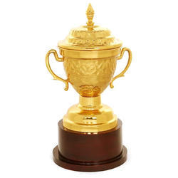 AL Hum Golden Gold Plated Trophy Cup