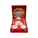 Silver & Gold Plated Swan Bowls Set