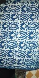 Cotton Indigo Dabu Hand Printed Fabric