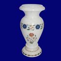 Decorative Marble Stone Inlay Flower Vase