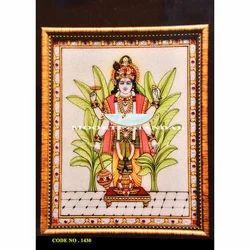 God Vishnu White Makrana Marble Handcraft