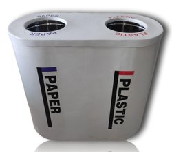 Dual FRP Litter Stainless Steel Bin Inside
