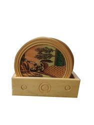 Wooden Handmade Tea Coaster For Corporate Gifts