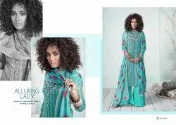 Embroidered Ladies Plazzo Suit