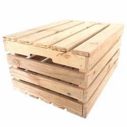 Rectangular Non Edible Rubber Wooden Crate Box, For Industrial