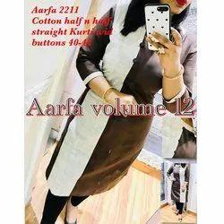 Aarfa 2211 Cotton Half Straight Kurti