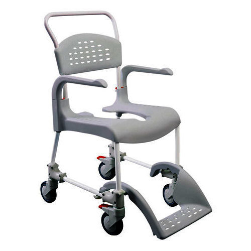 8bfc68830 Aluminum And Plastic Commode Chair With Wheels