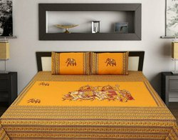 Patch Work Double Bed Sheet With Pillow Cover