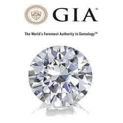 GIA Certified Solitaire Certified Natural Loose Brilliant Cut Diamond, Size: Caret Size Solitaire