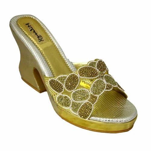 086f0275065 Milano Golden Bridal Wedges Sandals