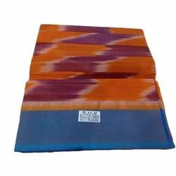 6.3 Meter Casual Ladies Pochampally Cotton Saree, With Blouse Piece