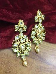 AB Designs Gold Color Antique Earring