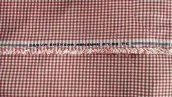 Poly Cotton Red Checks 67/33 P/C Uttar Pradesh (UP) Government School Uniform Fabrics