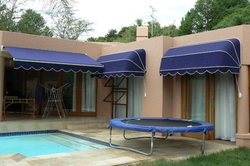 Canopy Style PVC Window Retractable Awning, For Outdoor ...