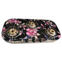 Flowers Glass Top Gas Stove