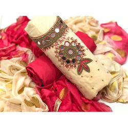 2.5 Meter Ladies Embroidered Unstitched Salwar Suit