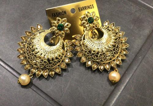 Dot Exports Gold Traditional Indian Ethnic Earrings Rs 145 Pair