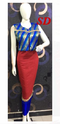 Blue And Red Indo Western Dress