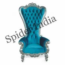 Charmant Silver Wedding Throne Chair