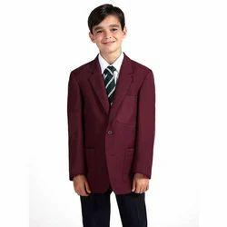 Boys Full Sleeves Kids School Blazer