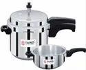Triones 5 Ltr Outer Lid Pressure Cooker Senior Combo  (5 LTR & 3 LTR)