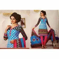 Cotton Printed Ladies Dress Material