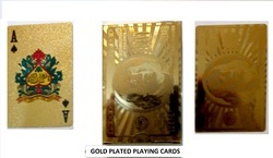 GOLD FOIL PLAYING CARDS DOLLAR