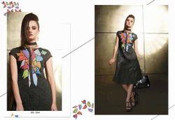 Good Looking Black Color Printed Kurti