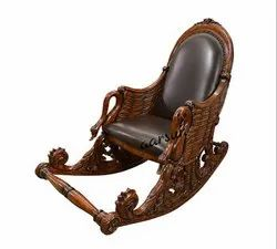 aarsun woods Antique Wooden Designer Rocking Chair, No Of Legs: 4