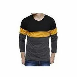 Men Full Sleeve Cotton T Shirts, Packaging Type: Packet